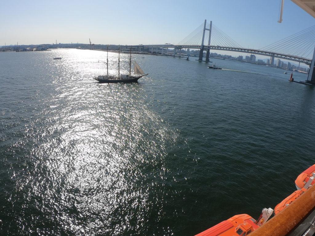 豪華客船からの風景